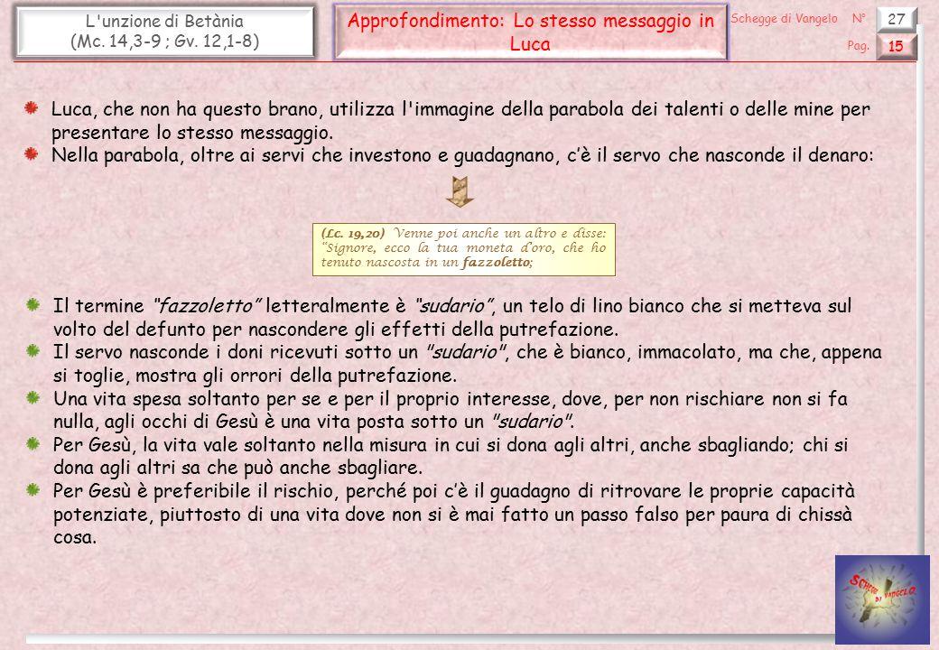 Approfondimento: Lo stesso messaggio in Luca