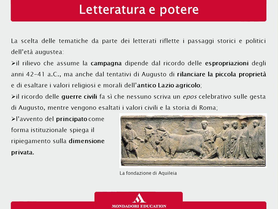 Letteratura e potere 13/01/13. La scelta delle tematiche da parte dei letterati riflette i passaggi storici e politici dell'età augustea: