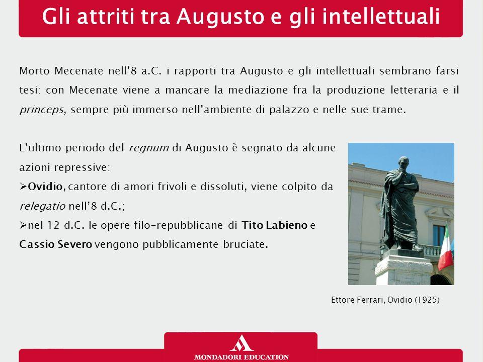 Gli attriti tra Augusto e gli intellettuali