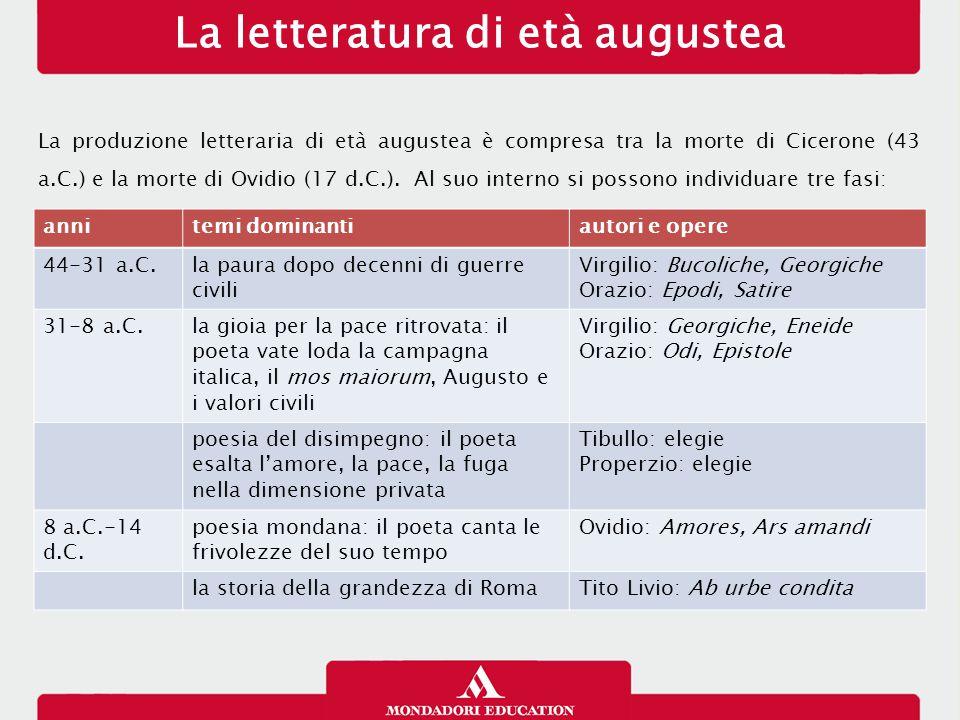 La letteratura di età augustea