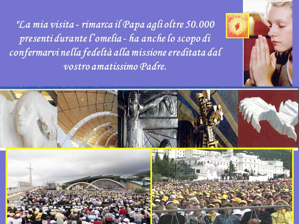 La mia visita - rimarca il Papa agli oltre 50