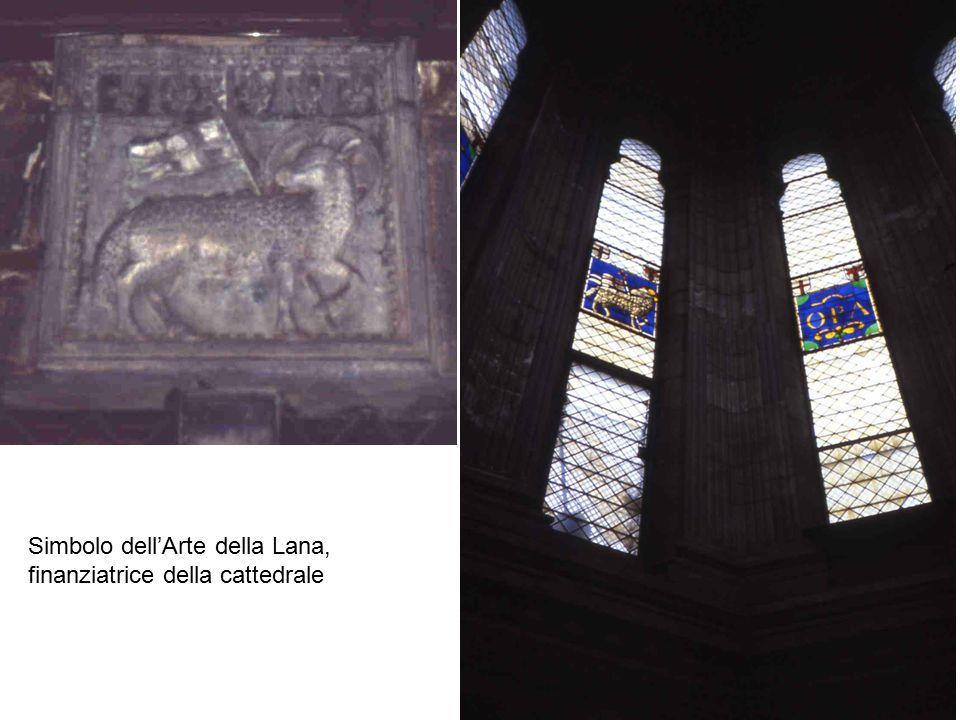Simbolo dell'Arte della Lana, finanziatrice della cattedrale