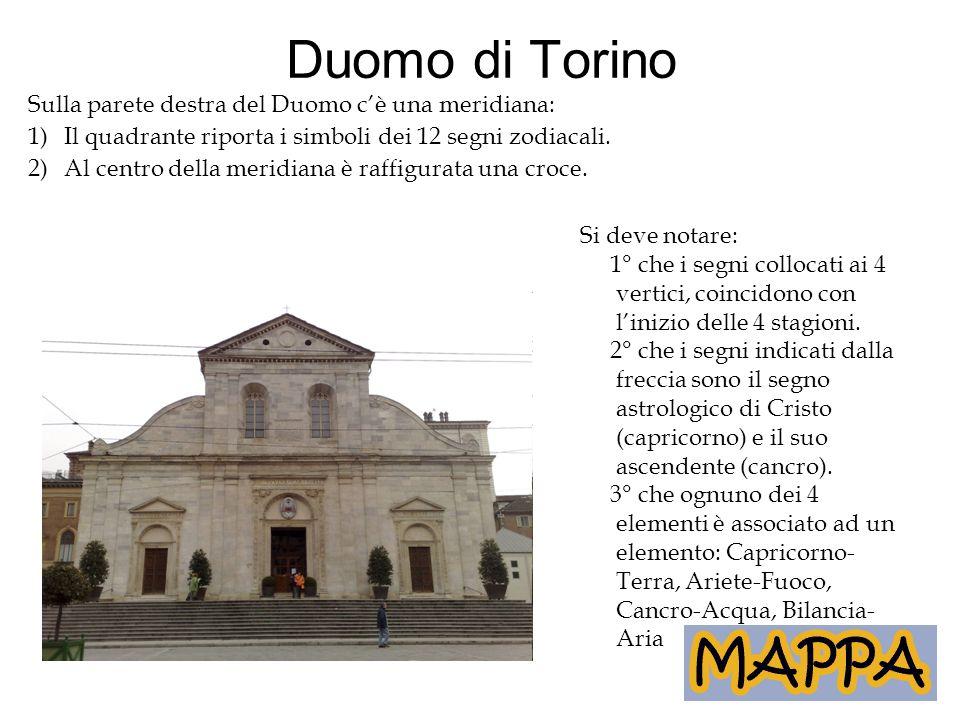 Duomo di Torino Sulla parete destra del Duomo c'è una meridiana: