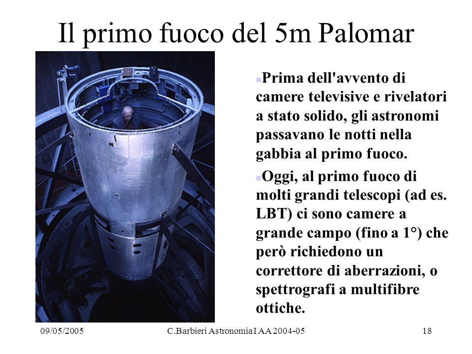 Il primo fuoco del 5m Palomar