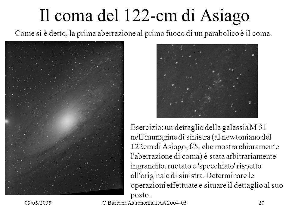 Il coma del 122-cm di Asiago