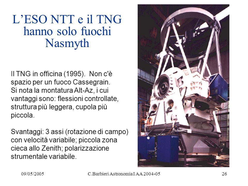 L'ESO NTT e il TNG hanno solo fuochi Nasmyth