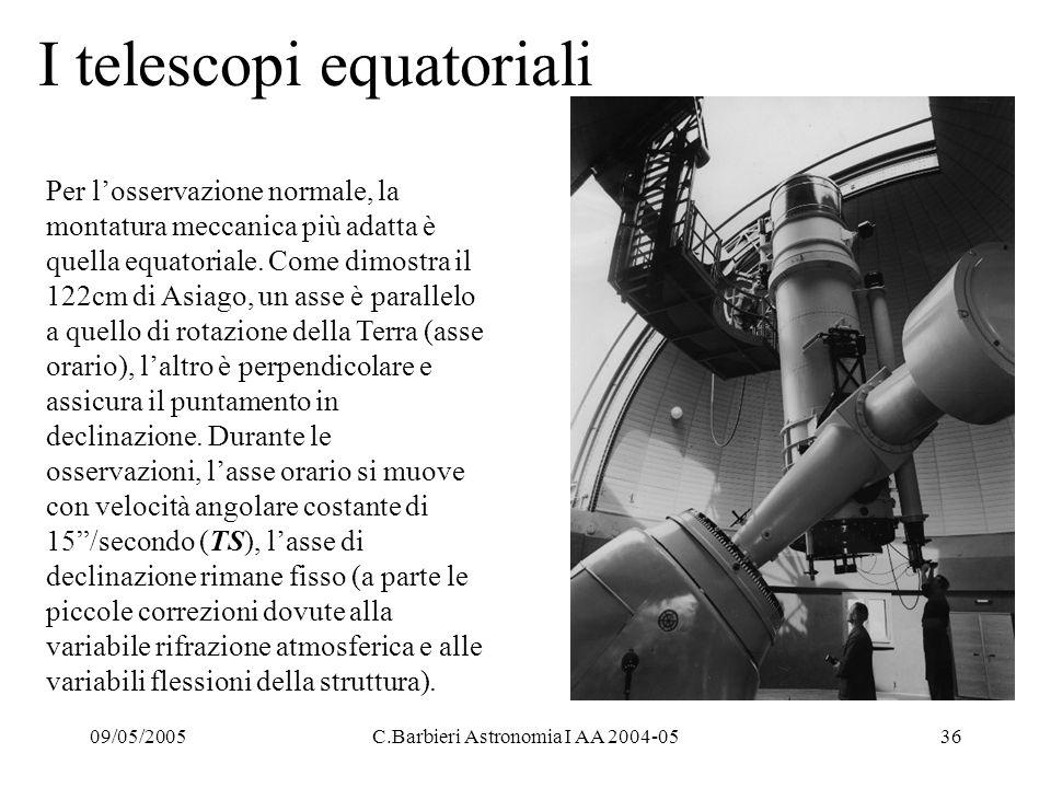 I telescopi equatoriali