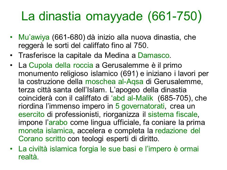 La dinastia omayyade (661-750)