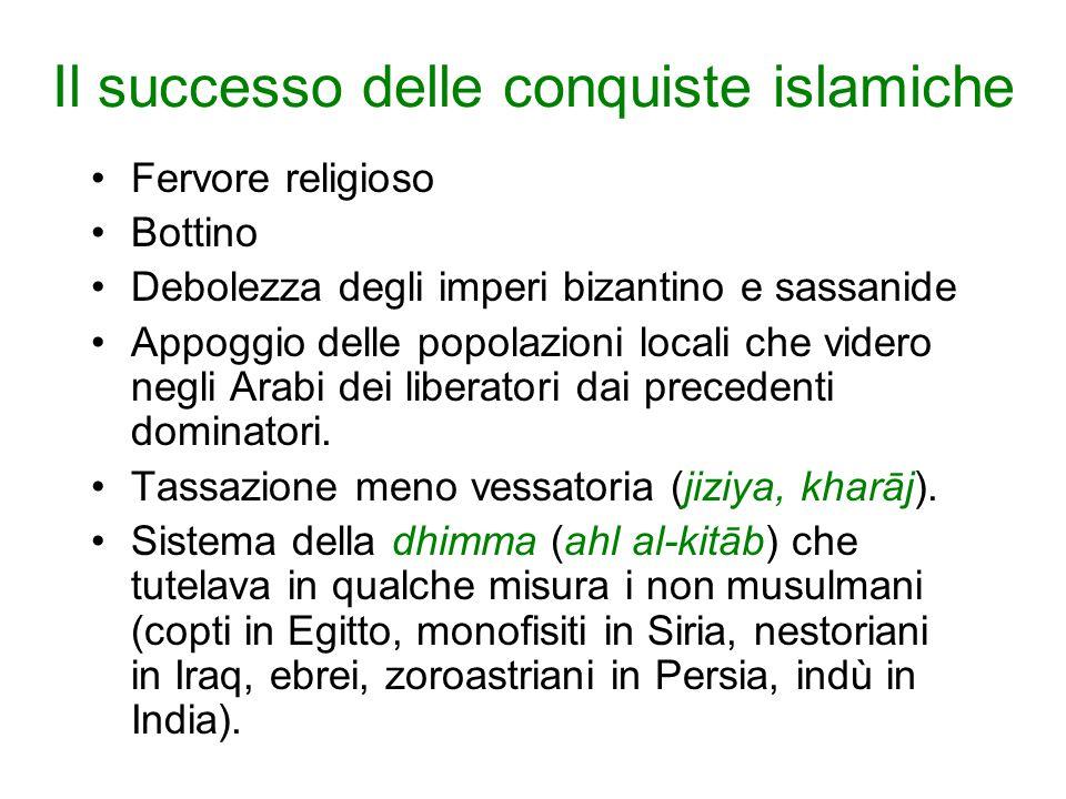 Il successo delle conquiste islamiche
