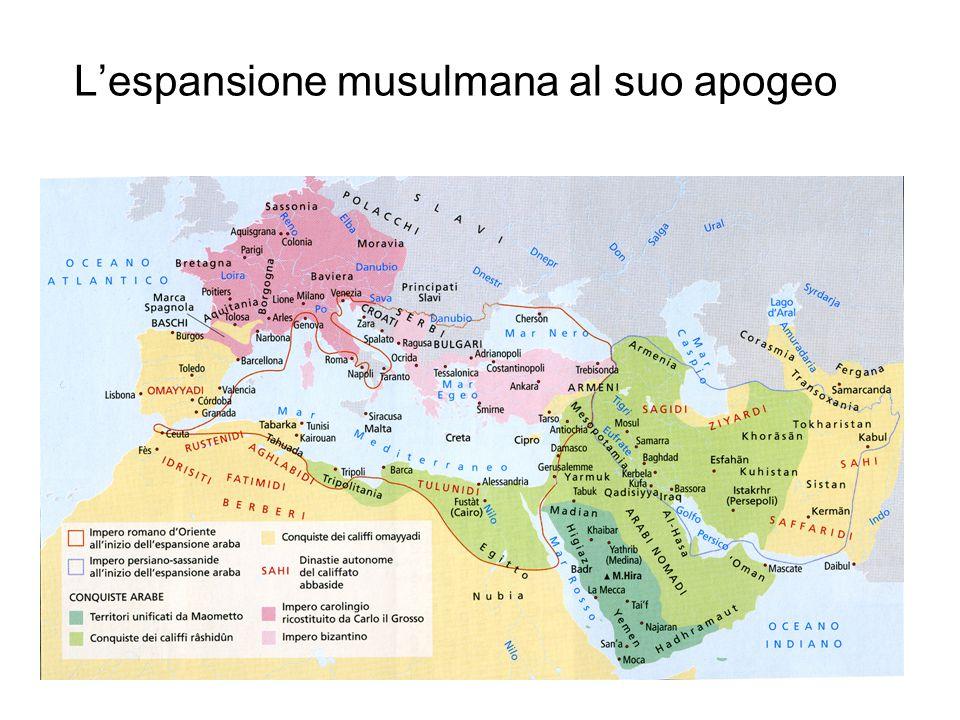 L'espansione musulmana al suo apogeo