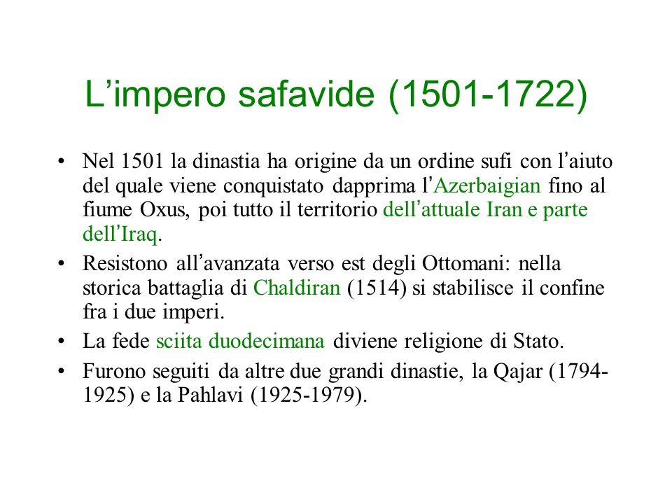 L'impero safavide (1501-1722)