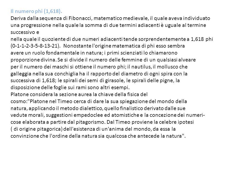 Il numero phi (1,618).