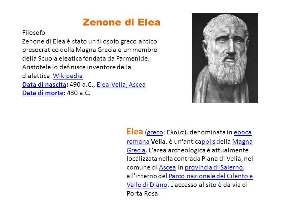 Zenone di Elea Filosofo.