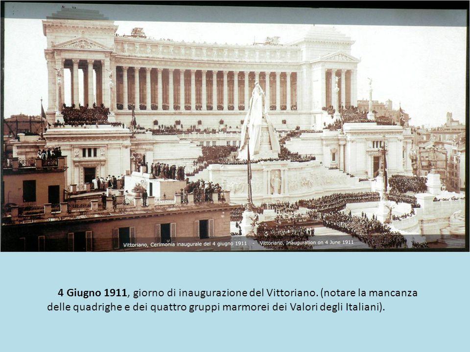 4 Giugno 1911, giorno di inaugurazione del Vittoriano