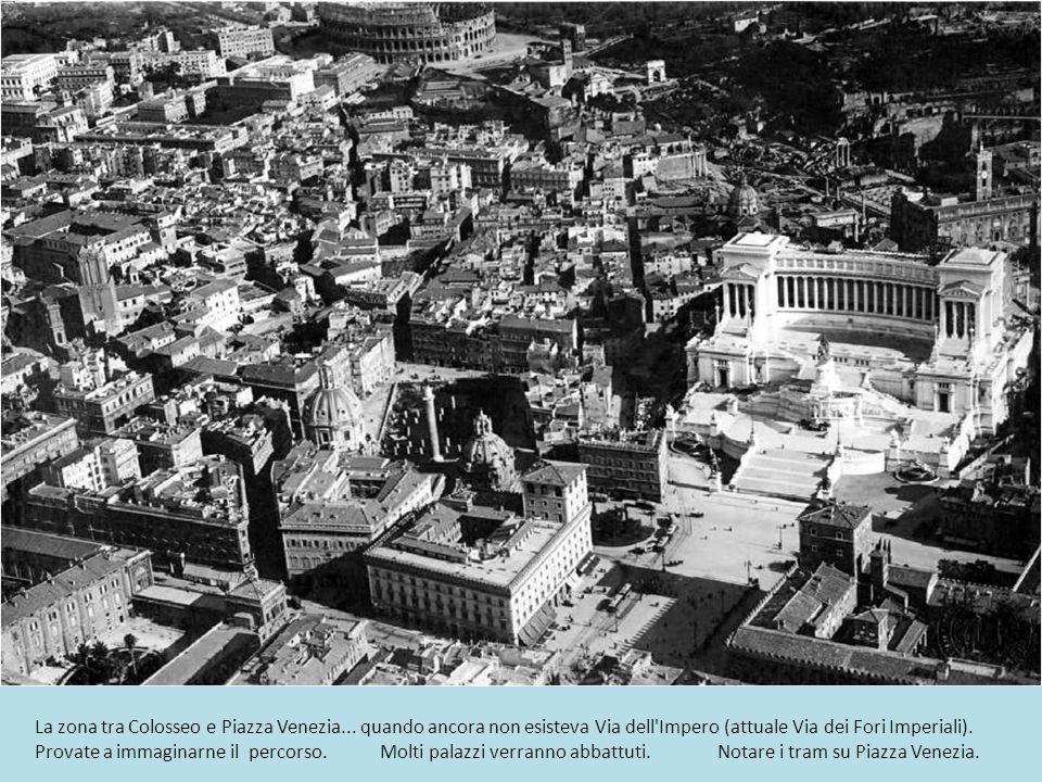 La zona tra Colosseo e Piazza Venezia