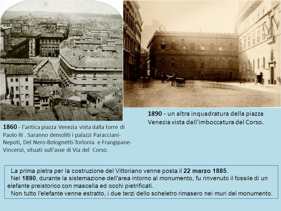 1890 - un altra inquadratura della piazza Venezia vista dall imboccatura del Corso.