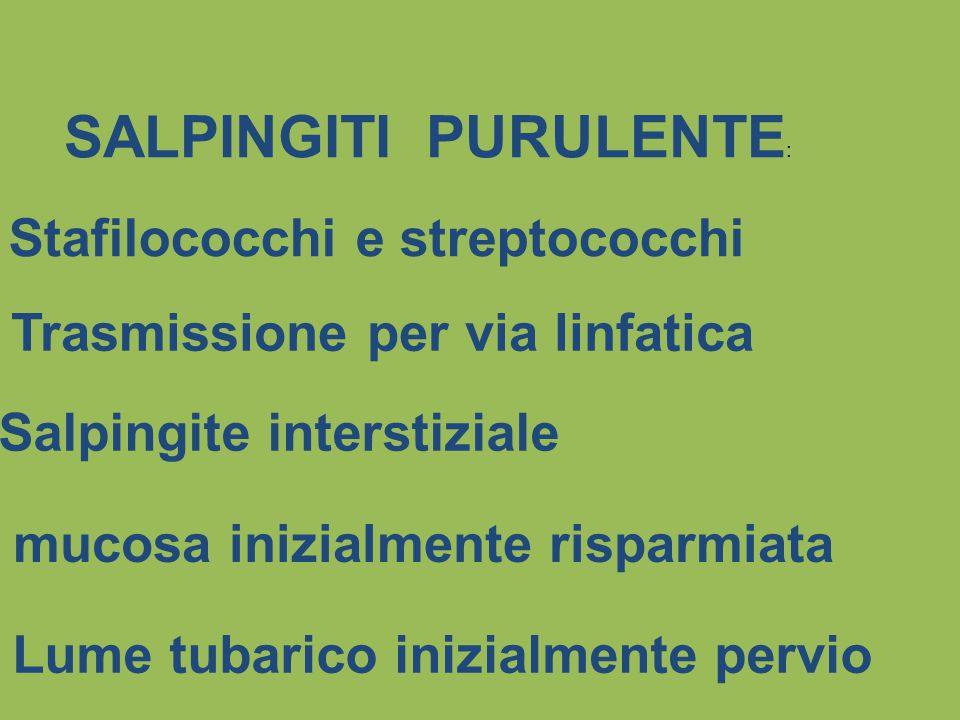 SALPINGITI PURULENTE: