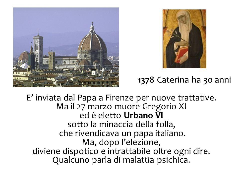 E' inviata dal Papa a Firenze per nuove trattative.