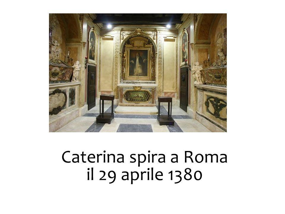 Caterina spira a Roma il 29 aprile 1380