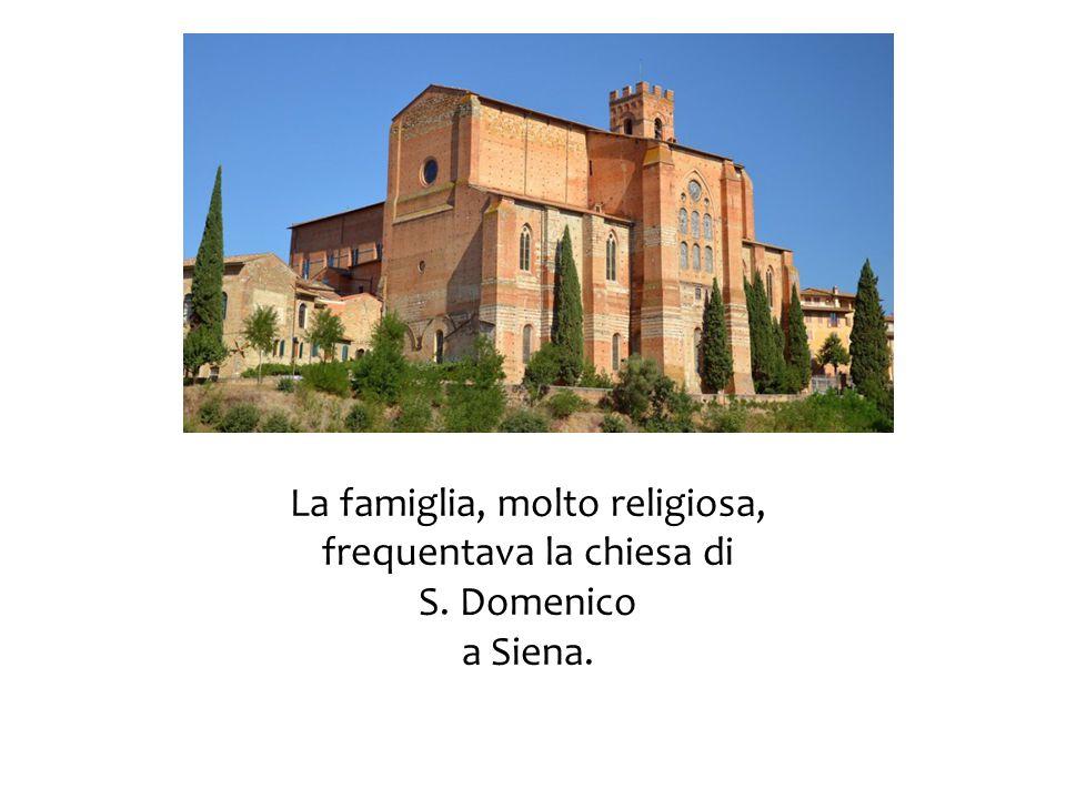 La famiglia, molto religiosa, frequentava la chiesa di S