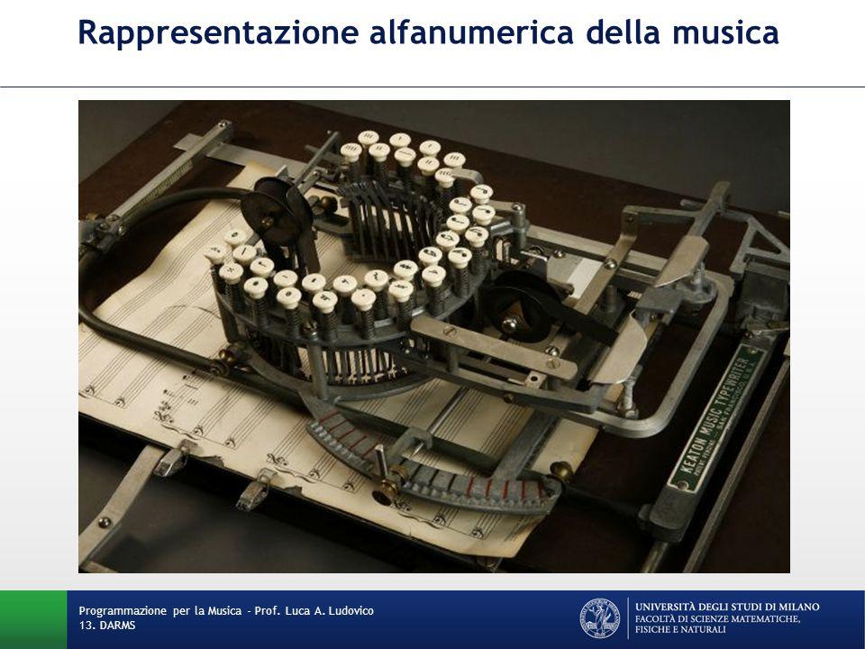 Rappresentazione alfanumerica della musica
