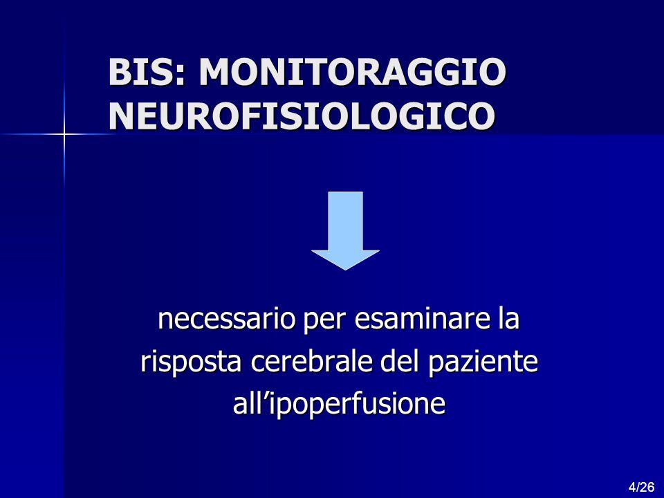 BIS: MONITORAGGIO NEUROFISIOLOGICO