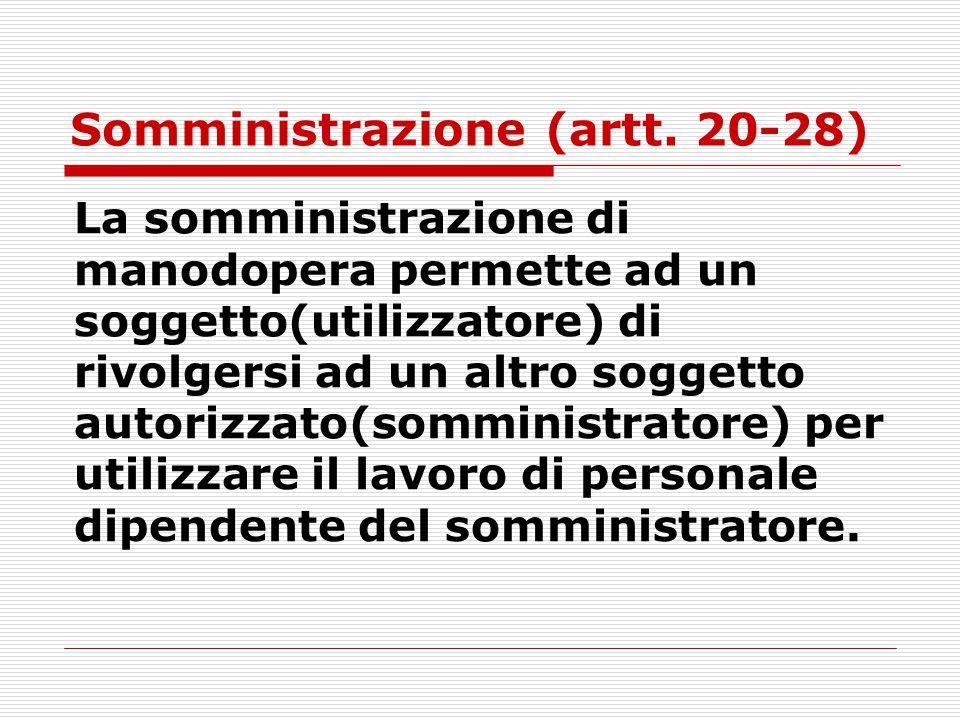 Somministrazione (artt. 20-28)