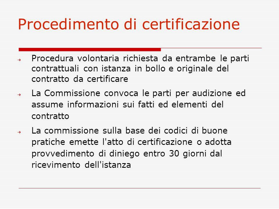 Procedimento di certificazione