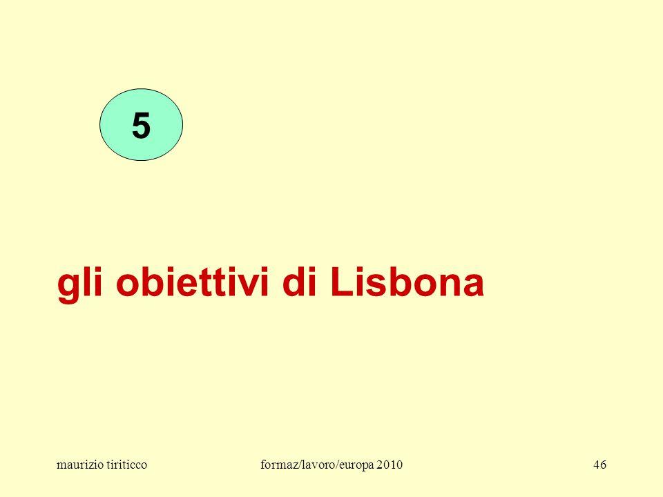 gli obiettivi di Lisbona