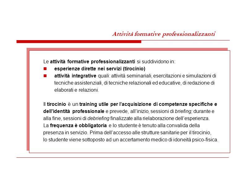 Attività formative professionalizzanti