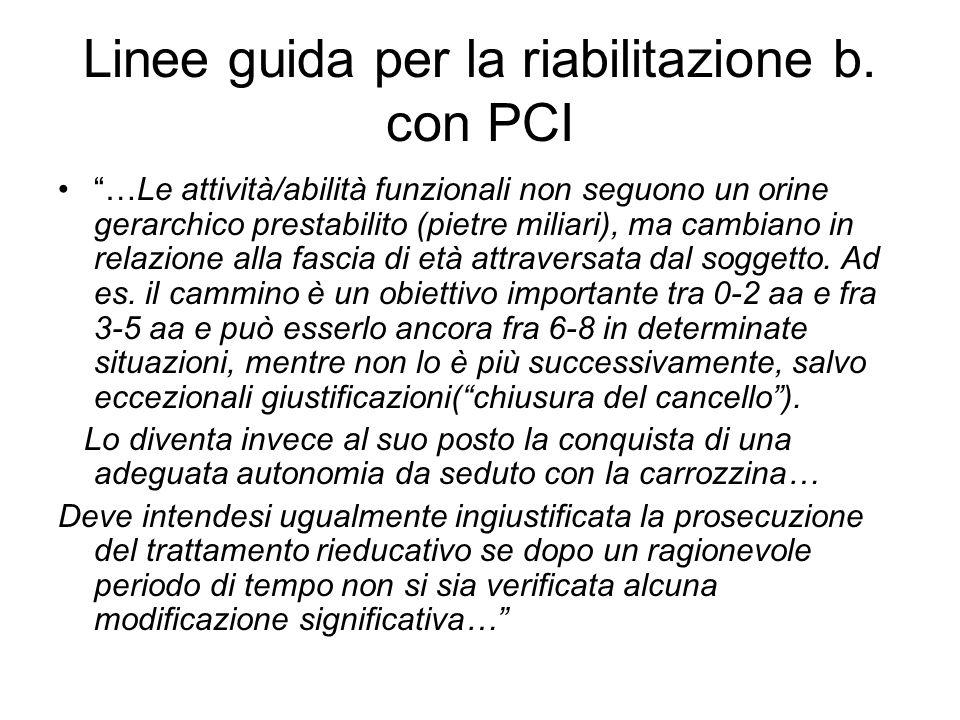 Linee guida per la riabilitazione b. con PCI