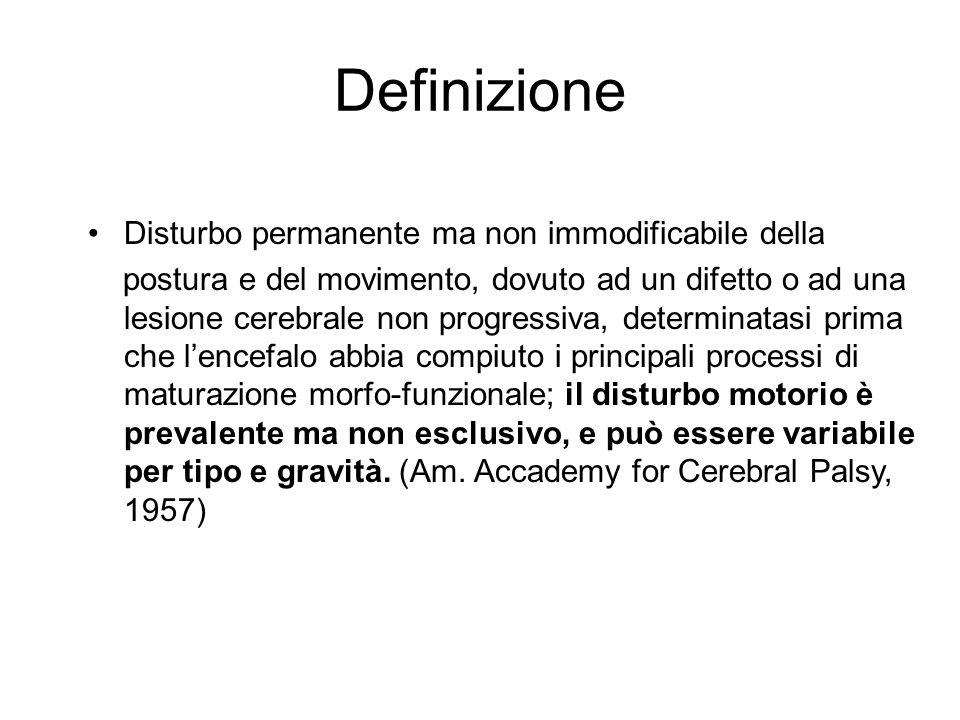 Definizione Disturbo permanente ma non immodificabile della