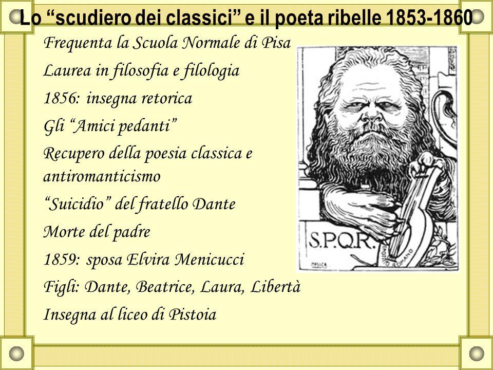 Lo scudiero dei classici e il poeta ribelle 1853-1860