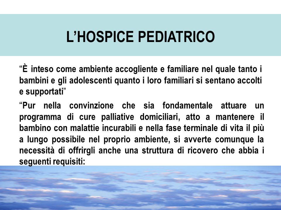 L'HOSPICE PEDIATRICO