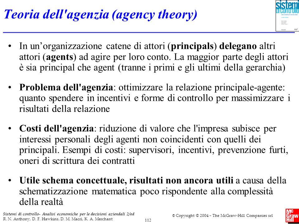 Teoria dell agenzia (agency theory)