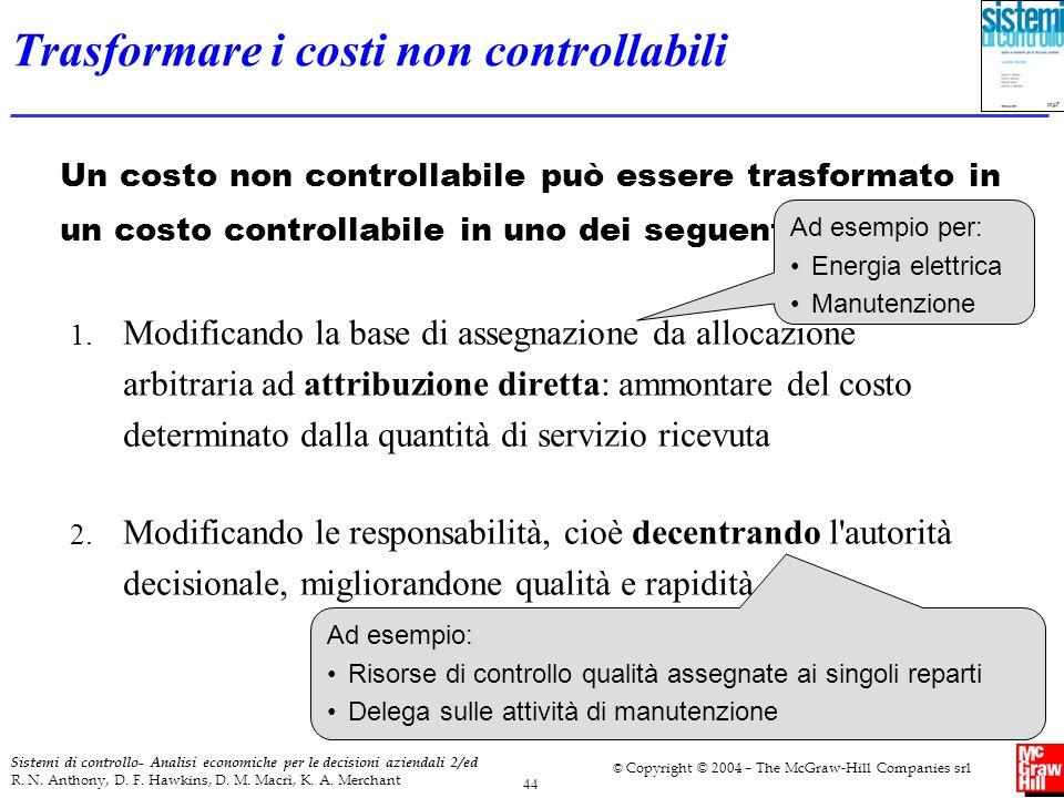 Trasformare i costi non controllabili