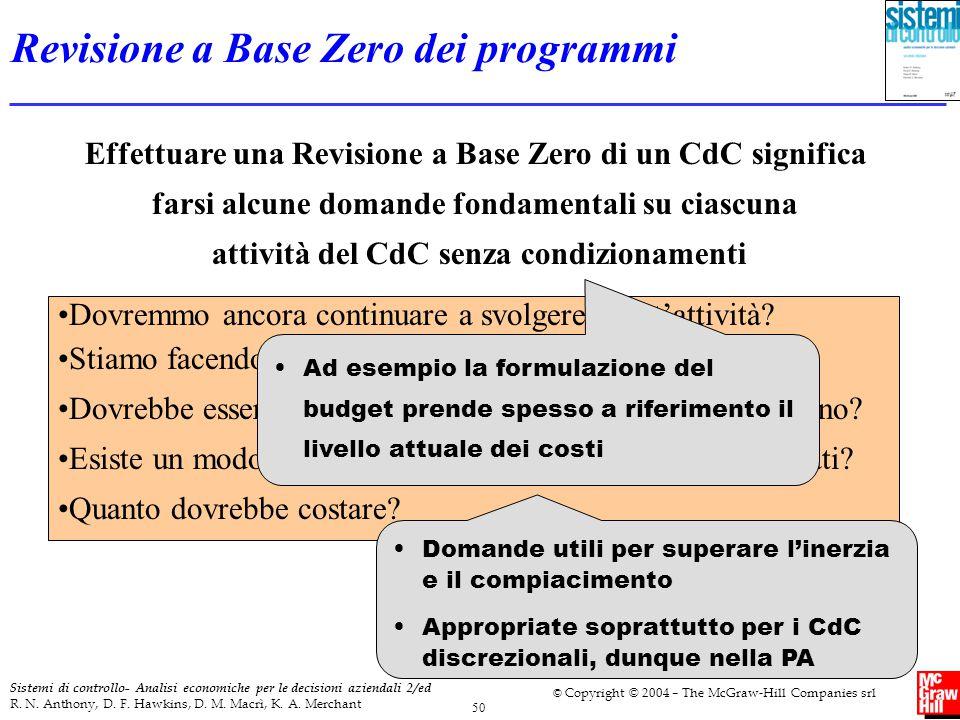 Revisione a Base Zero dei programmi