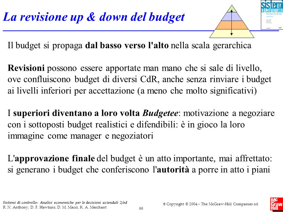 La revisione up & down del budget