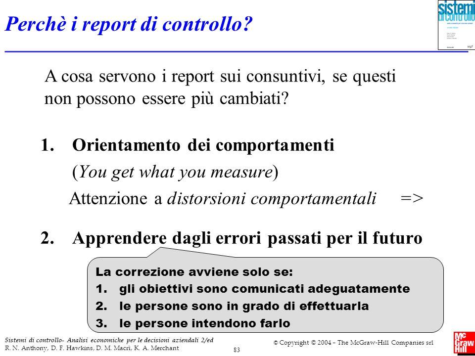 Perchè i report di controllo