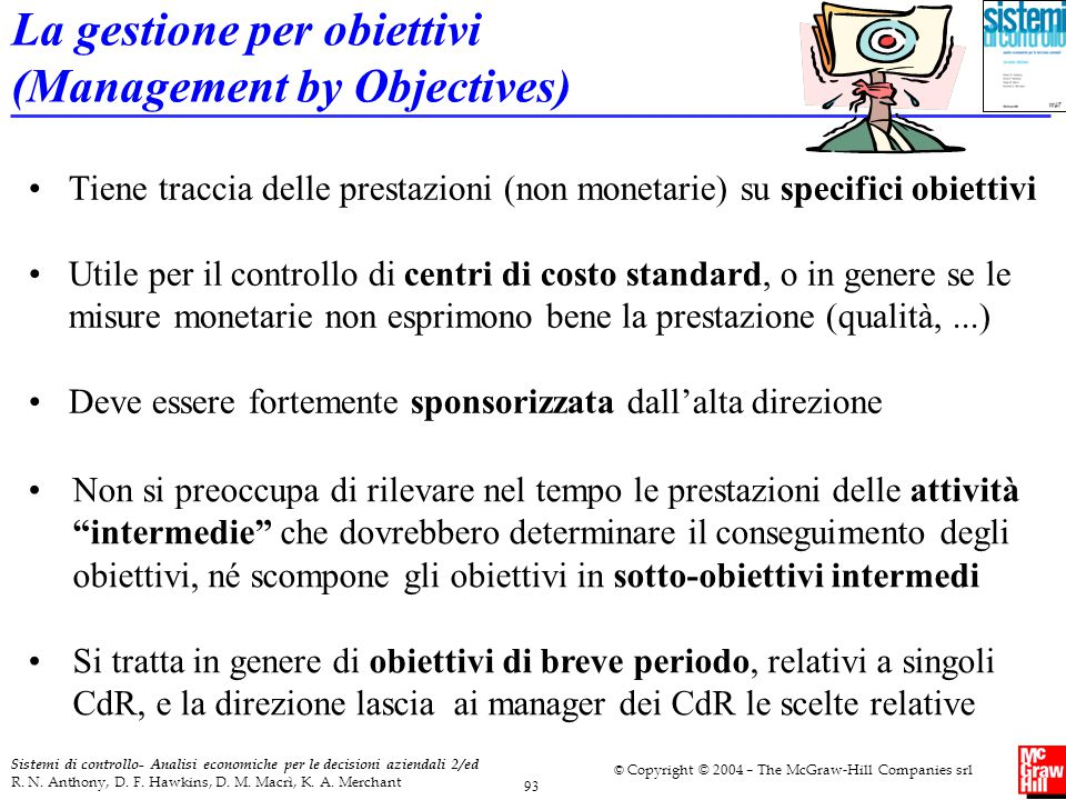 La gestione per obiettivi (Management by Objectives)