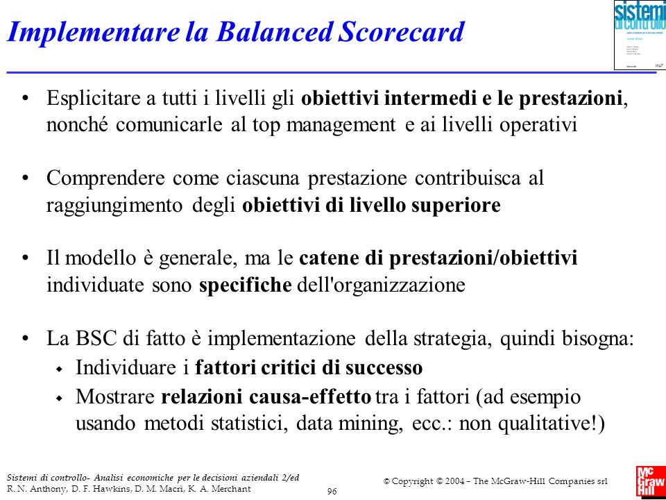 Implementare la Balanced Scorecard