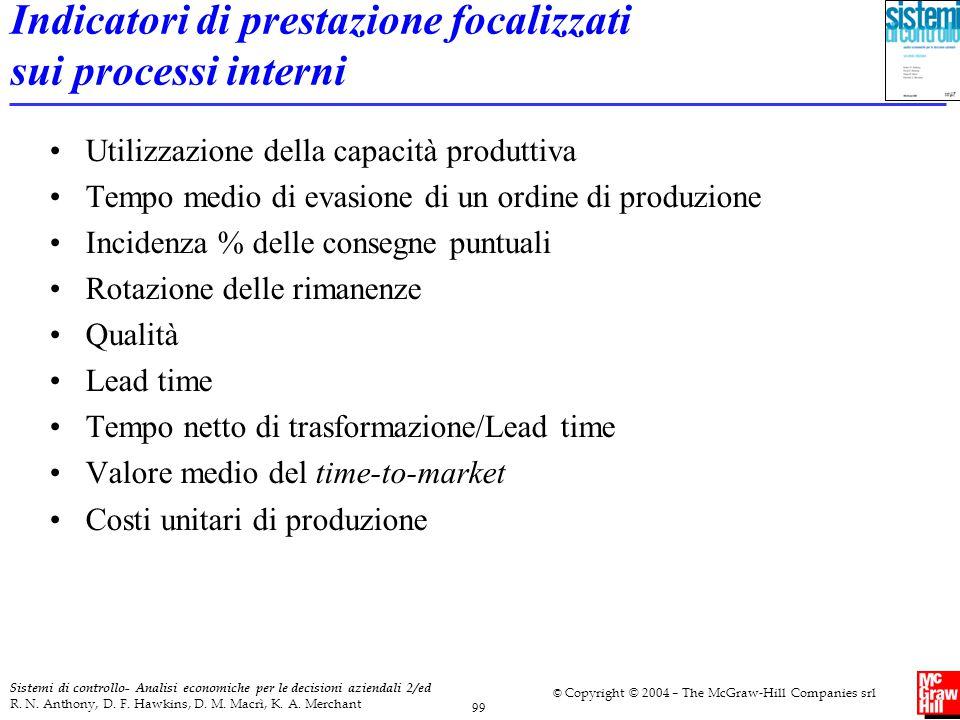 Indicatori di prestazione focalizzati sui processi interni