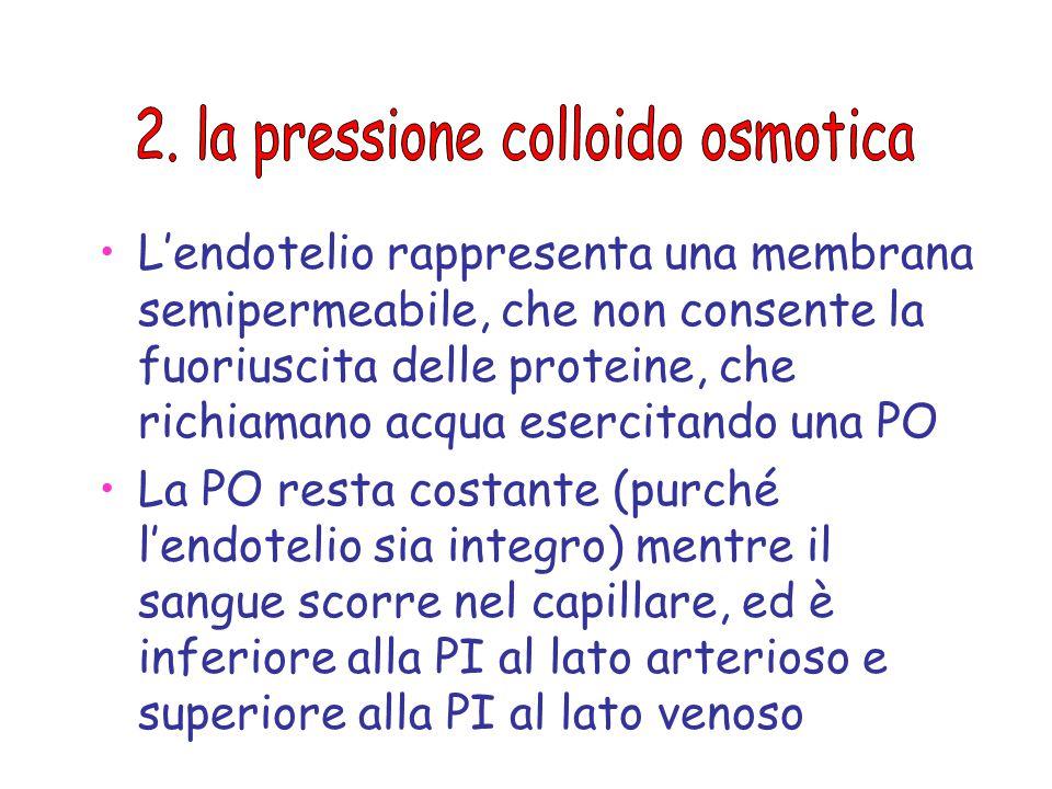 2. la pressione colloido osmotica