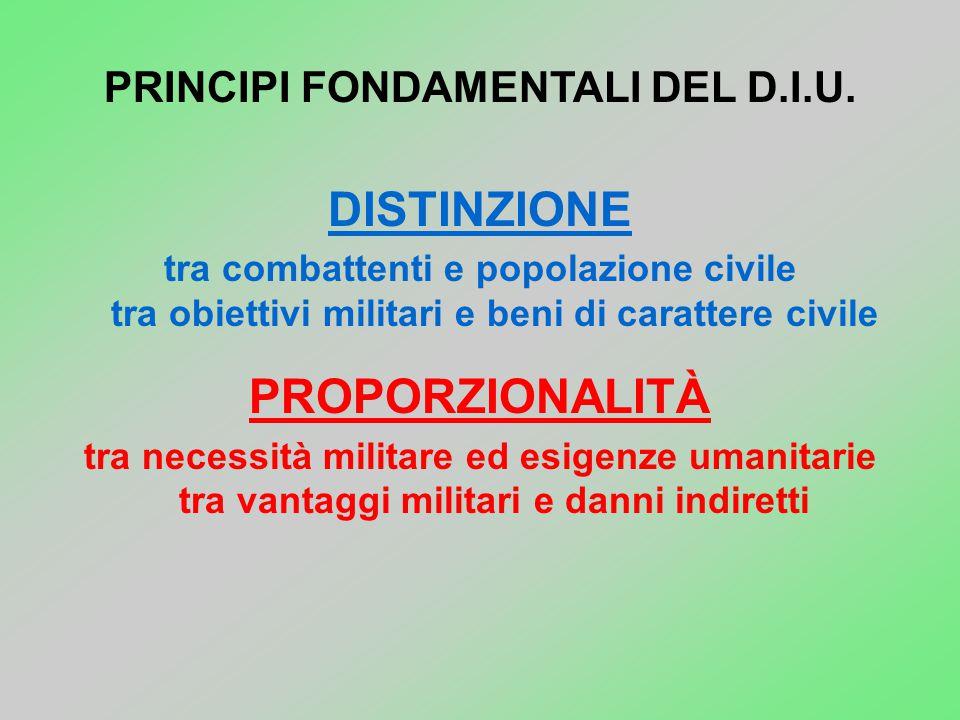 PRINCIPI FONDAMENTALI DEL D.I.U.