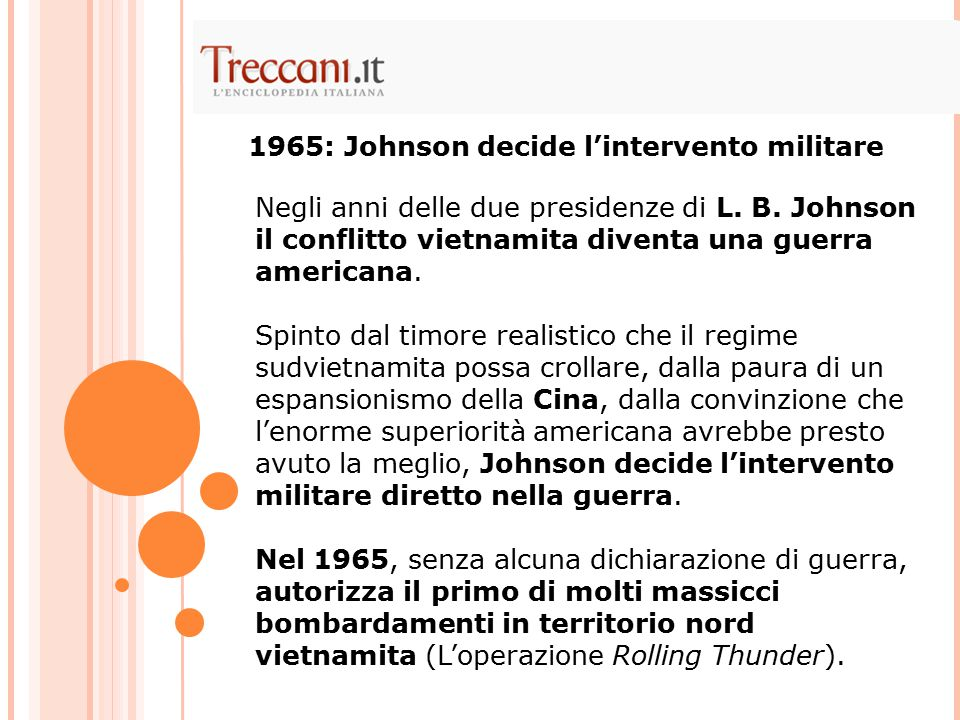 1965: Johnson decide l'intervento militare