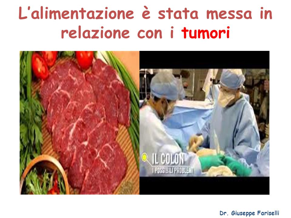 L'alimentazione è stata messa in relazione con i tumori