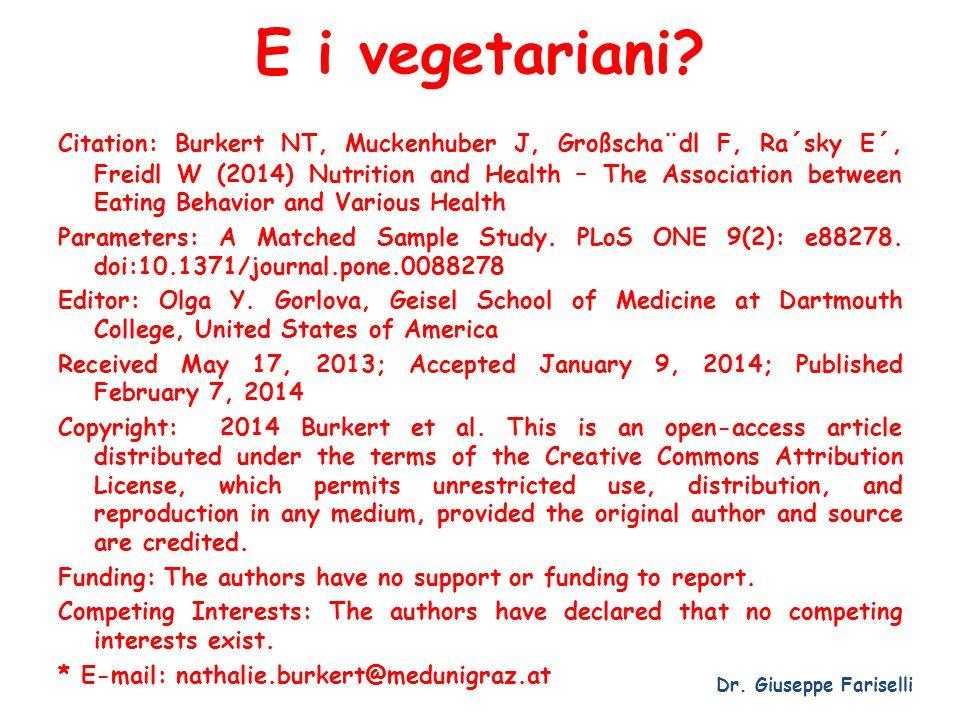 E i vegetariani