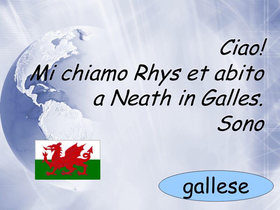 Ciao! Mi chiamo Rhys et abito a Neath in Galles. Sono