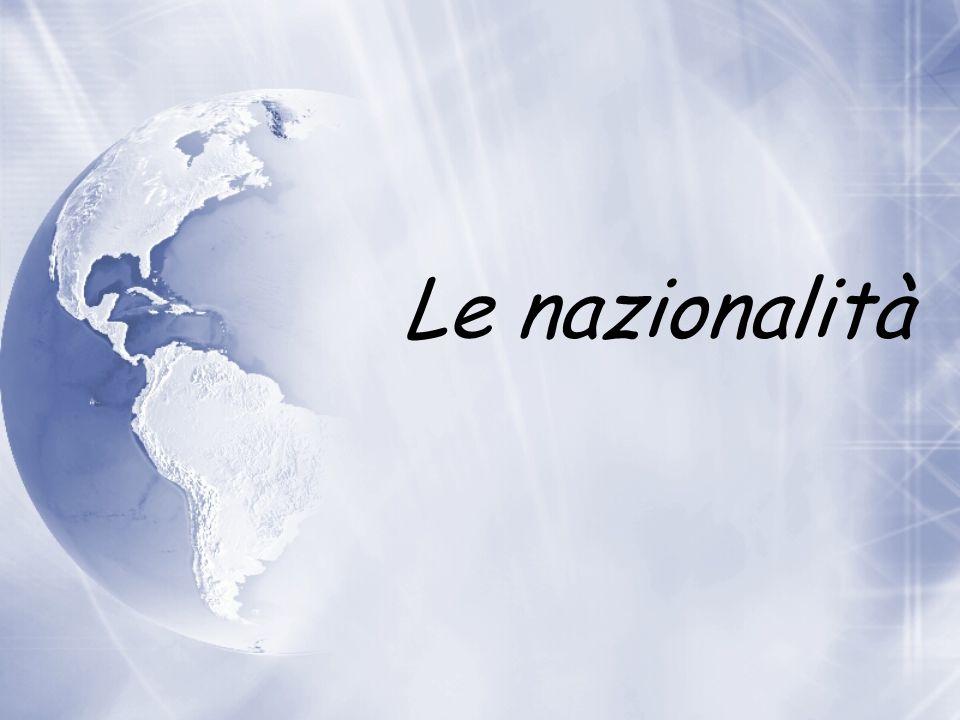 Le nazionalità