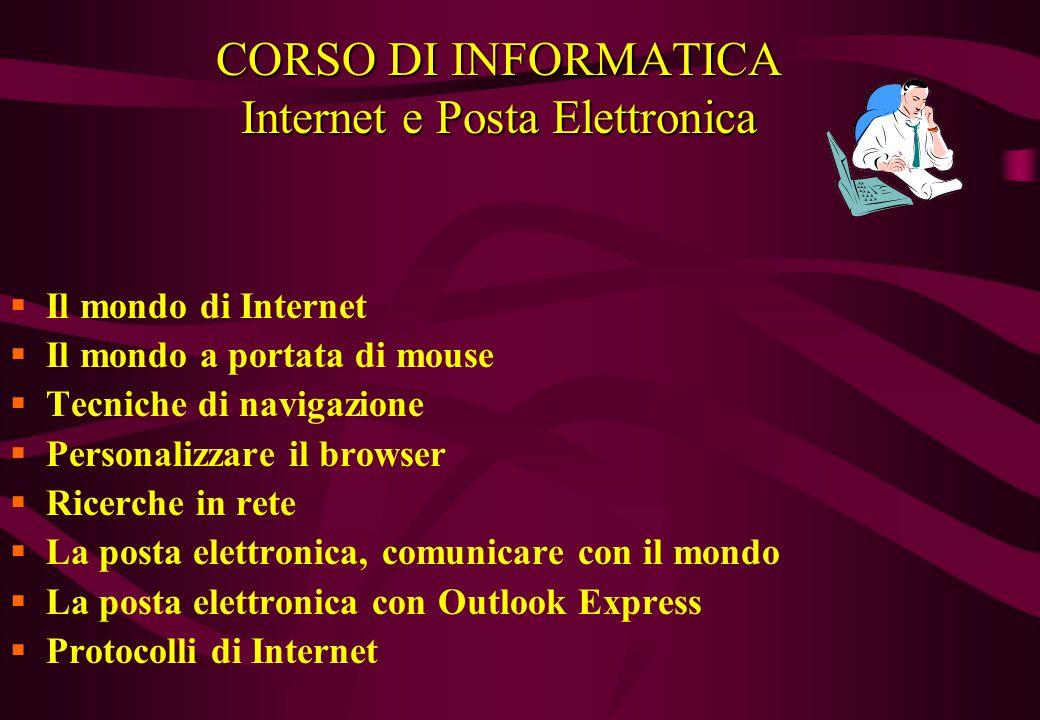 CORSO DI INFORMATICA Internet e Posta Elettronica